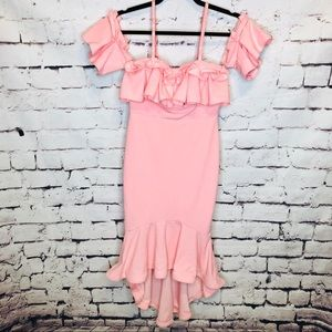 Entry Bubble Gum Pink Bodycon Mermaid Dress